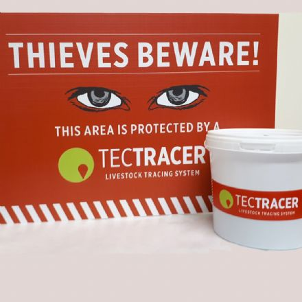 Special Offer - 1 litre TecTRACER sheep marker Inc FREE  Warning Sign